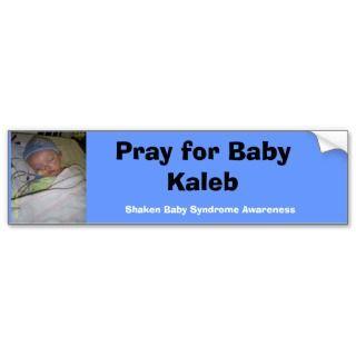 Baby Kaleb Bumper Sticker