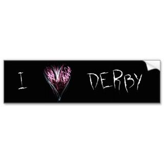 Heart DerbyBumper Sticker