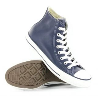 Converse CT All Stars Hi Navy Leather Mens Trainers Shoes