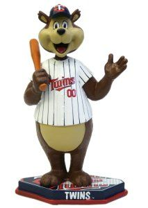 MLB Minnesota Twins Mascot Base Plate Bobble Head Sports