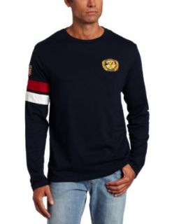 Nautica Mens Key Item Long Sleeve Crew Tee, Navy, Small