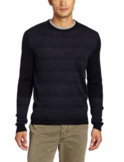 Calvin Klein Sportswear Mens Striped Rib Merino Sweater