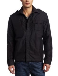 Victorinox Mens Double Chest Pocket Shirt Jacket, Black