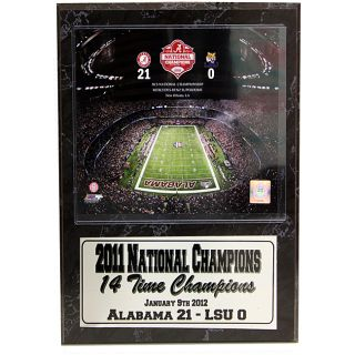 National Champion 2011 University of Alabama Louisiana Superdome Stat