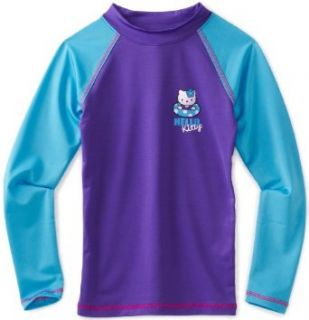 Hello Kitty Girls 2 6x Long Sleeve Rashguard Shirt, Purple