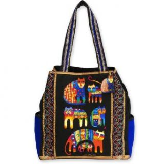 Laurel Burch Fantastic Feline Cousins Large Gap Tote