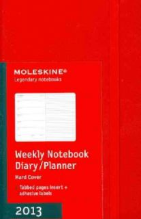 Moleskine Notebook Red Pocket 2013 Weekly Planner (Calendar