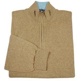 Cashmere Zip Mock Turtleneck Sweater 44 (USA, UK)   54 (IT) Clothing