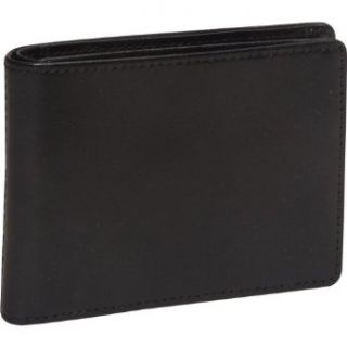 Bosca Old Leather Small Bifold Wallet (Black) Clothing