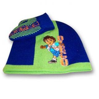 Nick Jr. Go Diego Go Boys Green and Blue Beanie Knit Hat