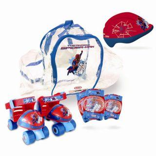 Spider Man   Paire de patins ajustables du 24 au 29   Protections de