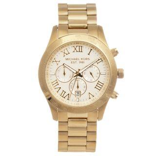 Michael Kors Mens Layton Goldtone Chronograph Watch