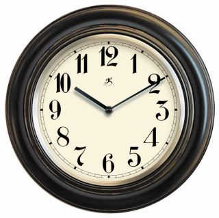 Benchmark 11.5 inch Black Wood Wall Clock