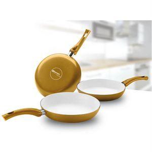 BIALETTI Ceramic OK Easy Set 3 poêles 20/24/28 cm   Achat / Vente