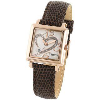 Stuhrling Original Womens Courtly Diamond Heart Swiss Quartz Watch