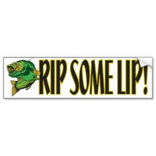 Rip Some Lip Bumper Sticker