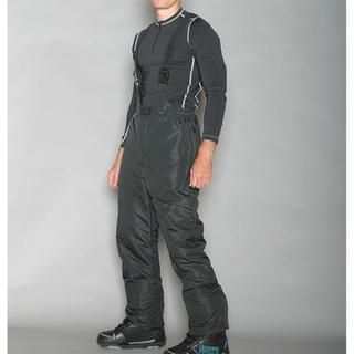 Pulse Mens Classic Black Ski Bib Pants
