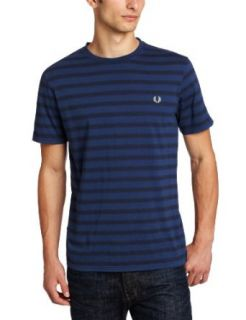 Fred Perry Mens Printed Stripe T Shirt Clothing