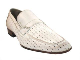 Mens Italian Designer Leather slip on shoes Sc1030 By Davinci Shoes