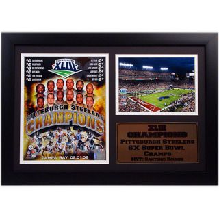 Steelers Champions 2009 12x18 Framed Print with Small Photo