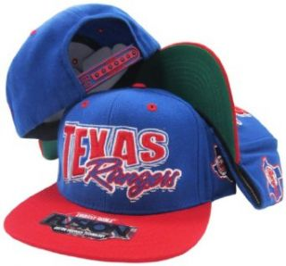 Texas Rangers Blue/Red Fusion Angler Snapback Hat / Cap