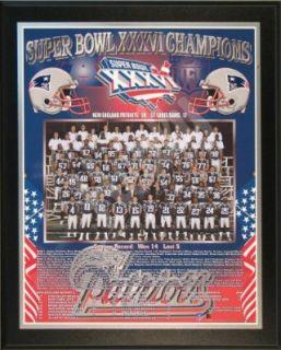 2001 New England Patriots NFL Football Super Bowl 36 XXXVI