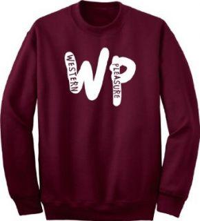 Western Pleasure Monogram Horse Lovers Maroon Sweatshirt