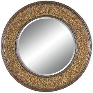 Round Framed Dark Gold Wall Mirror Today $203.99 3.0 (2 reviews)