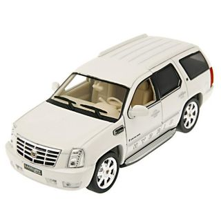 Cadillac Escalade Hybrid White 2010 Model Car