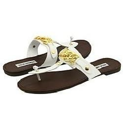 Steve Madden Sarrahh White Leather Sandals
