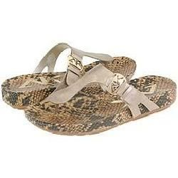 AK Anne Klein Fabio Gold Leather Sandals