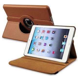 BasAcc Brown Leather Swivel Case for Apple iPad Mini