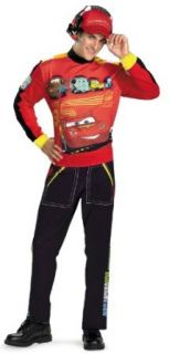 Cars Lightning Mcqueen Adult Costume Size X Large (42 46) Clothing