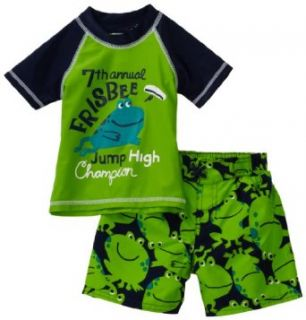 Carters Baby boys Infant Frog Rash Guard, Green, 24
