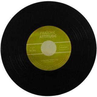 Coffret Dessous de Plat Aspect Vinyle 33 Tours Vintage Verre Fraiche
