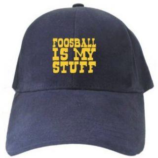 Foosball IS MY STUFF Navy Blue Baseball Cap Unisex