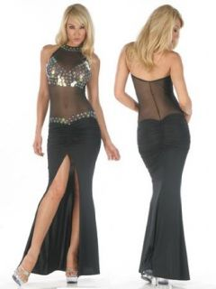 Sexy Sheer Sequin Gown   MEDIUM Clothing