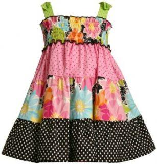 Bonnie Jean Girls 2 6x Tiered Woven Sundress,Multi,2T