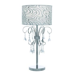 Casa Cortes French Design 27 inch Table Lamp with Crystals