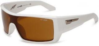 Arnette Mens High Beam Shield Sunglasses,Gloss White
