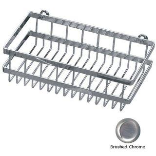 Concinnity 13 inch Brushed Chrome Deep Shower/ Bath Rack