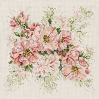 Garden Roses Counted Cross Stitch Kit (13 x 13)