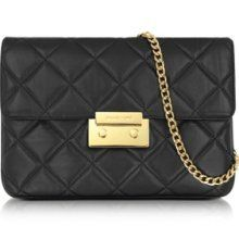 Michael Michael Kors Sloan Clutch Quilted Black Clothing