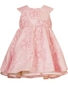Rare Editions Baby girls Infant Soutach Dress, Pink, 3