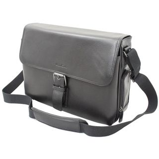 Kenneth Cole New York 15.4 inch Leather Laptop Messenger Bag