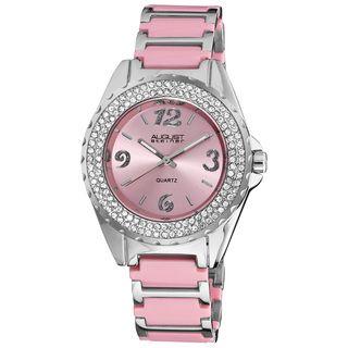 August Steiner Womens Quartz Crystal Ceramic Bracelet Watch