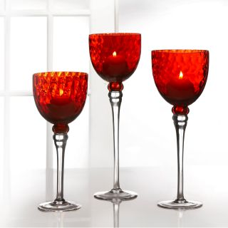 Fifth Avenue Crystal Monaco Red Candle Holders (Set of 3) Today $44