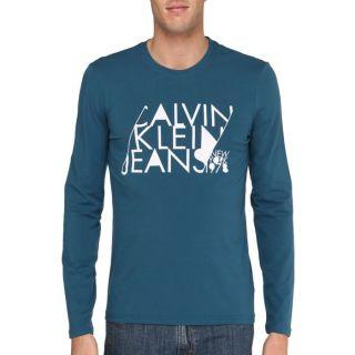 CALVIN KLEIN JEANS T Shirt Homme Pétrole Pétrole   Achat / Vente T