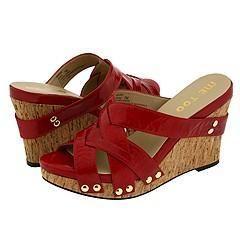 Me Too Jafar Red Pearl Patent Sandals