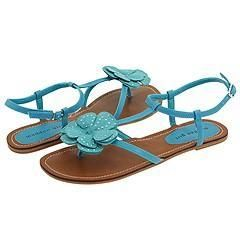 Madden Girl Bayleee Turquoise Fabric Sandals